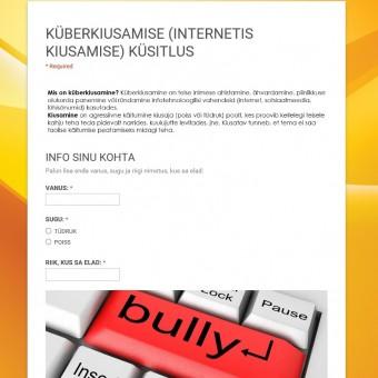 küberkiusamise pilt